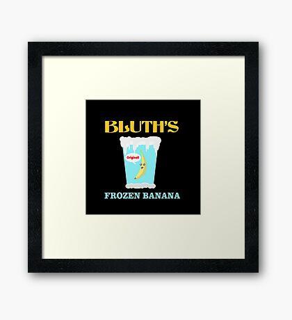 Frozen Banana! Framed Print