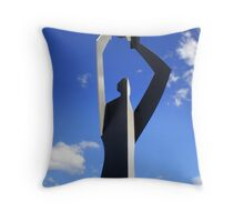 Ball play at Bondi Throw Pillow