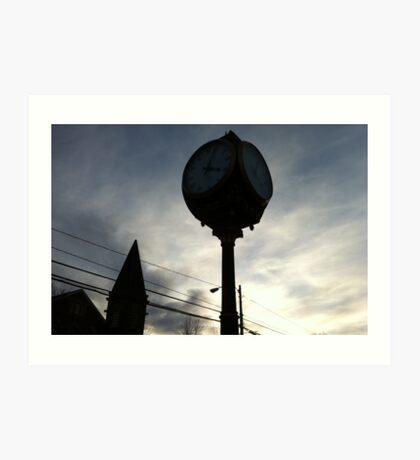 Wolfville at Sunset - Clock Shadows Art Print