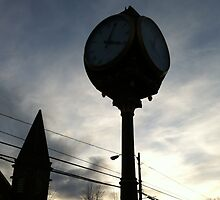 Wolfville at Sunset - Clock Shadows by Chris Carruthers