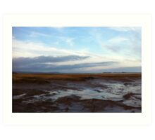 Wolfville at Sunset - Bay of Fundy Art Print