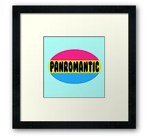 Panromantic Pride Framed Print