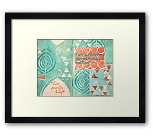 Difference Between Being Alive and Living: Live Fully Framed Print