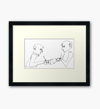 drawing the boys drawing Framed Print