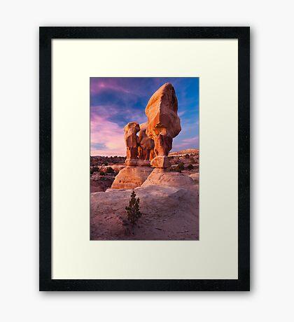 Devils Garden - Hoodoos Framed Print