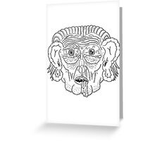 Troll Caricature Greeting Card