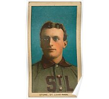Benjamin K Edwards Collection George Stone St Louis Browns baseball card portrait 001 Poster