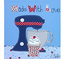 Made with Love cupcake  Photographic Print