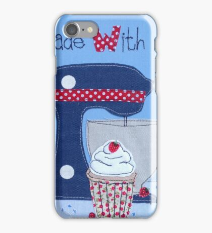 Made with Love cupcake  iPhone Case/Skin