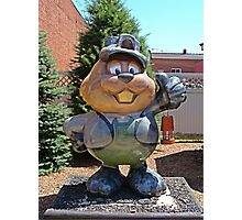 Welcom to Punxy, Home of the Groundhog! Photographic Print