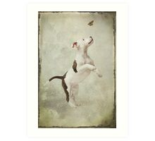 Molly and the Butterfly Art Print