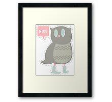 Ye Owl Framed Print
