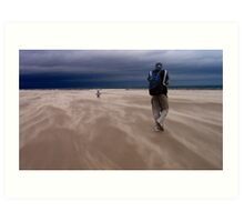 Windy Beach in St. Andrews Art Print