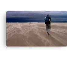 Windy Beach in St. Andrews Canvas Print