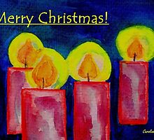 Christmas Card - Candles in Advent by CarolineLembke