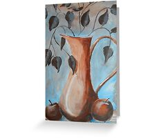 HIDDEN TOUCH  - Still life with apples Greeting Card