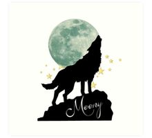 Moony Art Print