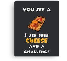 Free Cheese Canvas Print