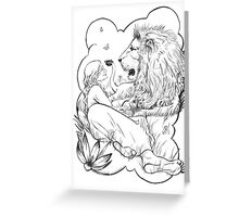 Aslan Greeting Card