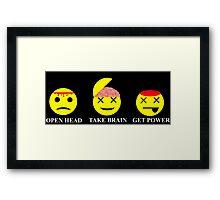 Heroes Sylar Smileys Framed Print