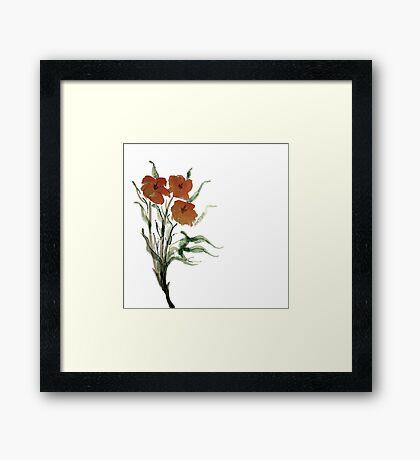 Eloquent Bloom - Floral Framed Print