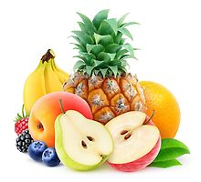 Pile of assorted fresh fruits by 6hands