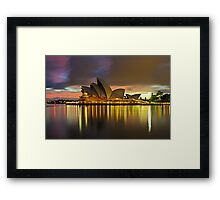 Notes of the Golden Hour Framed Print