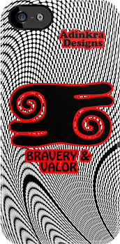 iphone4-Adinkra-Series-Bravery-&-Valor by Keith Richardson