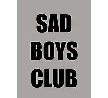 Sad Boys Club Photographic Print