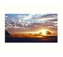 Outback Sunset Art Print