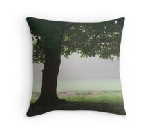 Tree On A Foggy Morning Throw Pillow