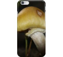Yellow Capped Mushroom iPhone Case/Skin