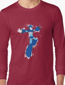 Mega Man X Splattery Any Color Shirt or Hoodie Long Sleeve T-Shirt