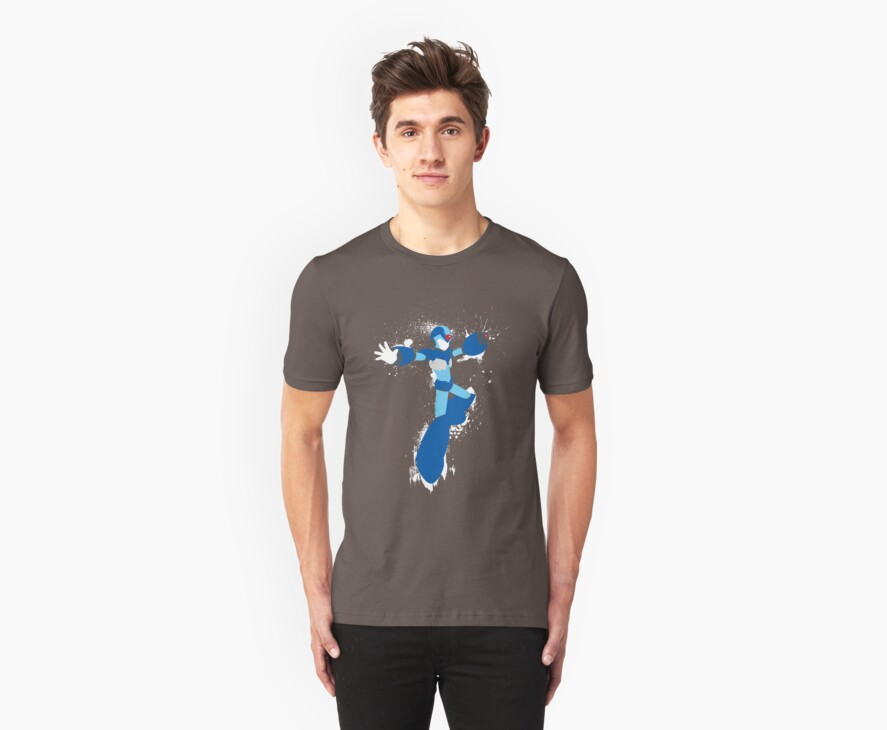 Mega Man X Splattery Any Color Shirt or Hoodie by thedailyrobot