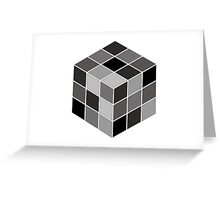 Monochrome Rubik's cube Greeting Card