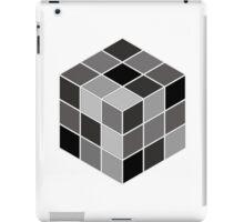 Monochrome Rubik's cube iPad Case/Skin