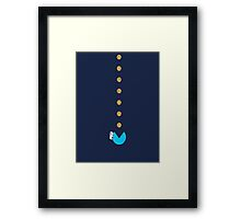 Cookie Monster Pac-Man Framed Print