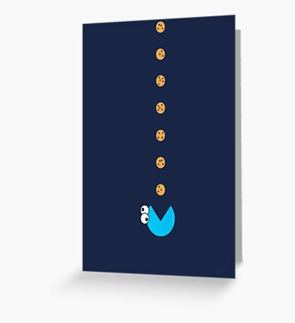 Cookie Monster Pac-Man Greeting Card