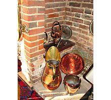Antique Copper Utensils - Ye Olde White Hart Hotel Photographic Print