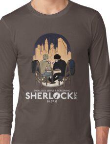 Sherlock NYC - SCREENING - Night (White Logo) Long Sleeve T-Shirt