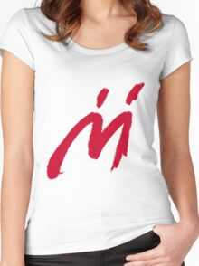 M Graffiti  Women's Fitted Scoop T-Shirt