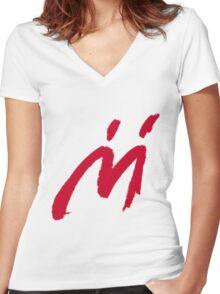 M Graffiti  Women's Fitted V-Neck T-Shirt