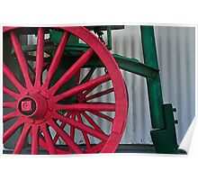 Red Wagon Wheel Poster