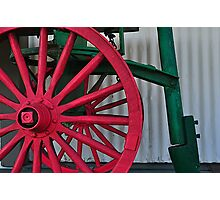 Red Wagon Wheel Photographic Print