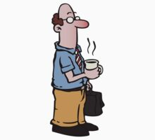 Boss with cup of coffee by Colin Cramm