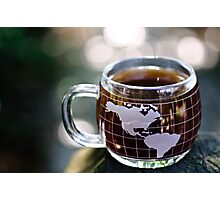 The world loves coffee  Photographic Print