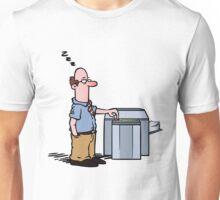 Boss asleep at copy machine Unisex T-Shirt