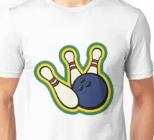 Bowling ball with bowling pins Unisex T-Shirt