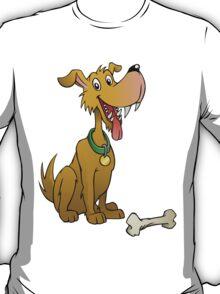 Cartoon dog with bone T-Shirt