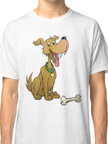Cartoon dog with bone Classic T-Shirt